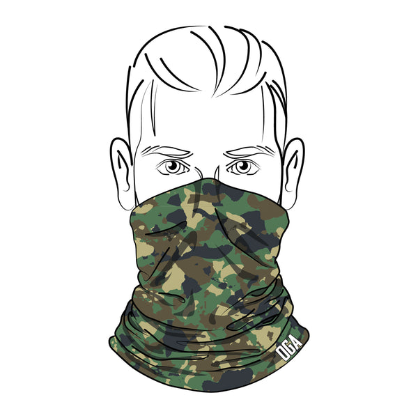OGA HAWAIIAN ISLAND CAMO MASK (GREEN)