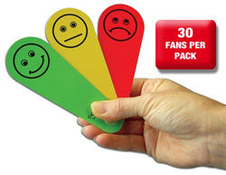 Traffic Light Fans 30 Pack