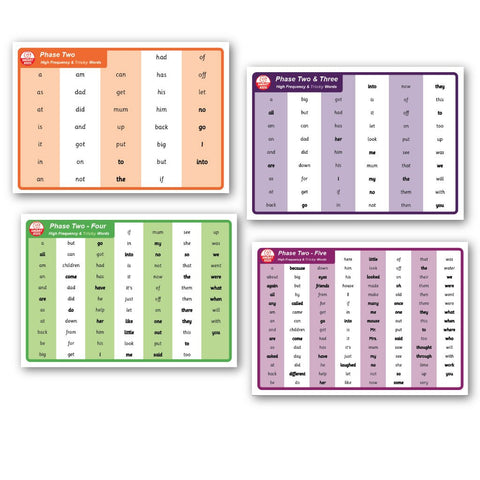 Phase 2 to 5 Consecutive Word Mats Download