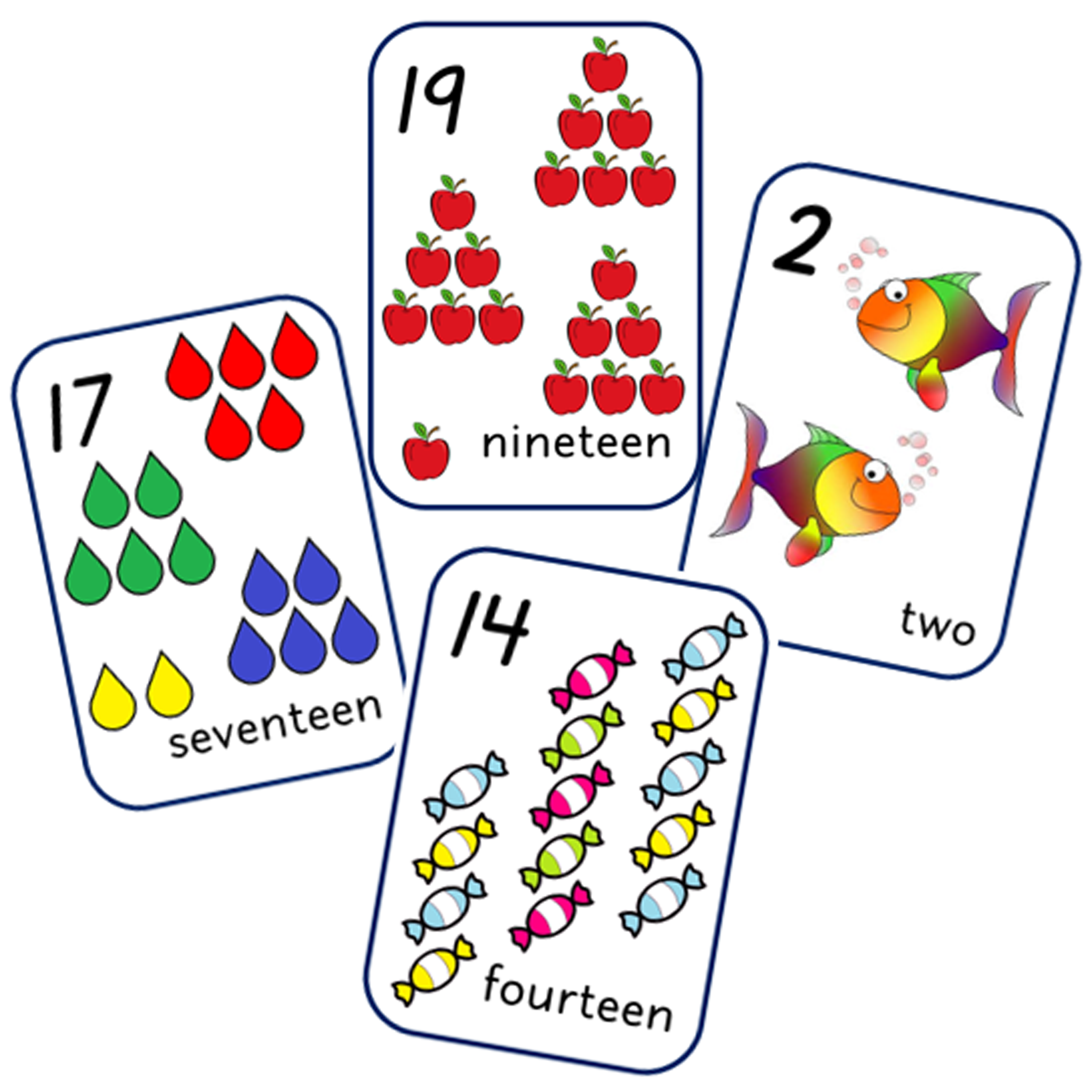 Number Picture Display Cards - 1-20
