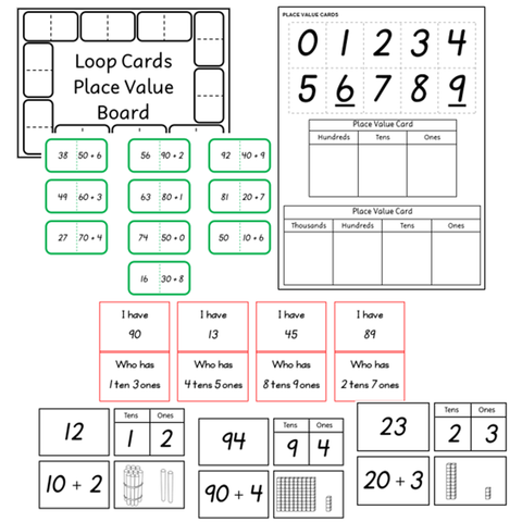 Place Value - Card Game Activities