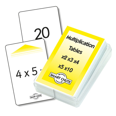 Multiplication x2 - x5, x10 Chute Cards