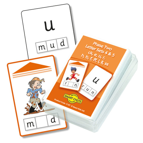 Letters and Sounds Phase 2 Letter Sets 4-5 Chute Cards
