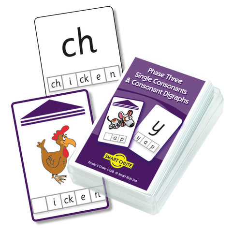 Letters and Sounds Phase 3 Consonants and Consonant Digraphs Chute Cards