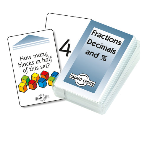 Fractions, Decimals, Percentages Chute Cards