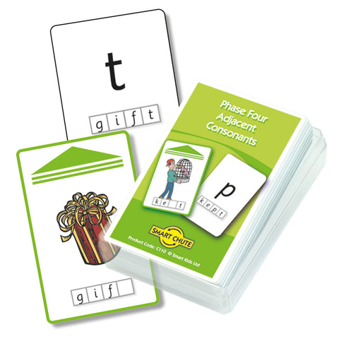 Letters and Sounds Phase 4 Adjacent Consonants Chute Cards