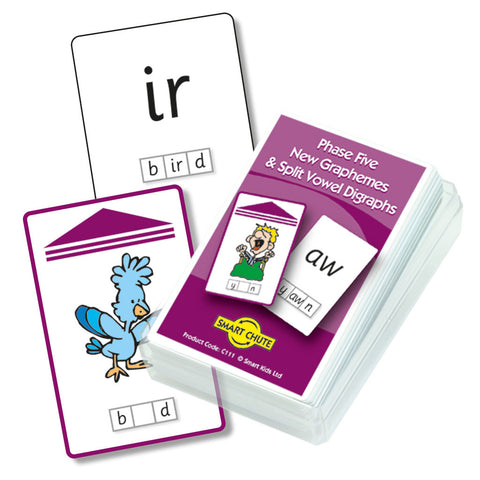 Letters and Sounds Phase 5 New Graphemes Chute Cards