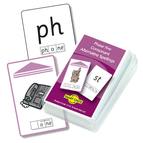 Letters and Sounds Phase 5 Consonant Alternative Spellings Chute Cards