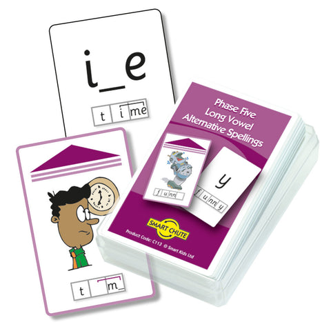 Letters and Sounds Phase 5 Long Vowel Alternative Spellings Chute Cards