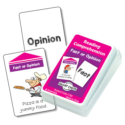 Fact or Opinion Reading Comprehension Cards