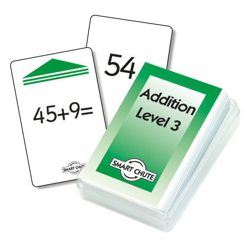 Addition Facts Chute Cards - Level 3