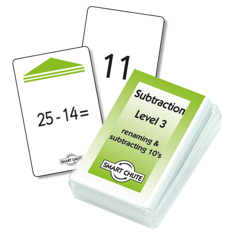Subtraction Facts Chute Cards - Level 3