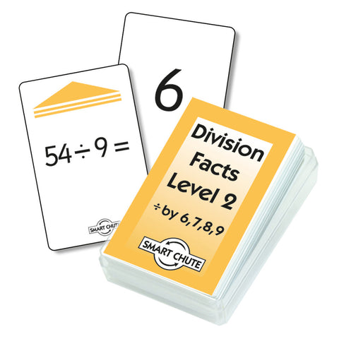 Division Facts Level 2 Chute Cards