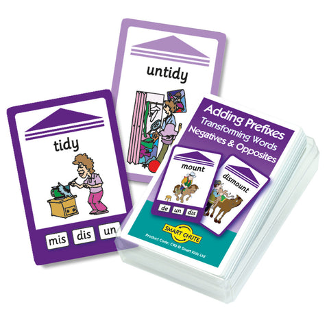 Adding Prefixes Negatives & Opposites Chute Cards
