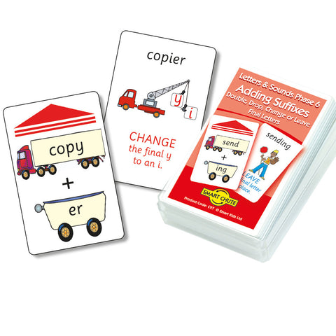 Adding Suffixes Double, Drop, Change or Leave Final Letters Chute Cards