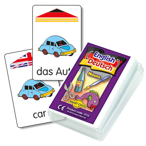 German Nouns Chute Cards