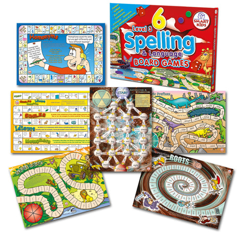 6 Spelling Board Games - Level 3