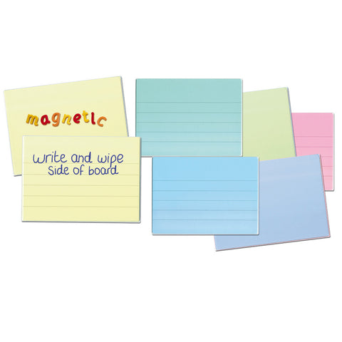 A4 Tinted Dry-Wipe Lined Boards Set of 6