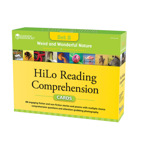 Weird and Wonderful Nature Hi-Lo Comprehension Cards
