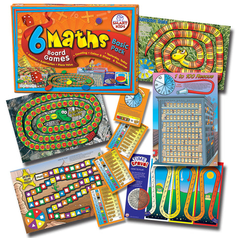 6 Maths Board Games - Basic