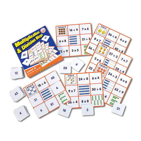 Multiplication & Division Bingo Level 2