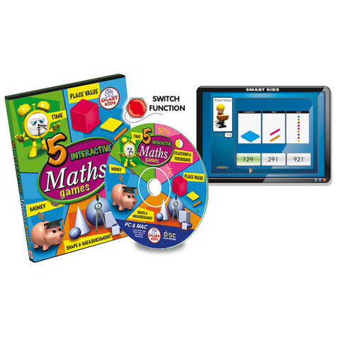 5 Interactive Maths Games CD-Rom