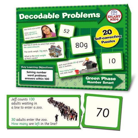 Decodable Word Problems (four operations) to 100