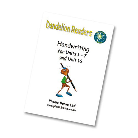 Dandelion Readers Handwriting Worksheets