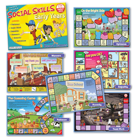 Social Skills Board Games - Early Years