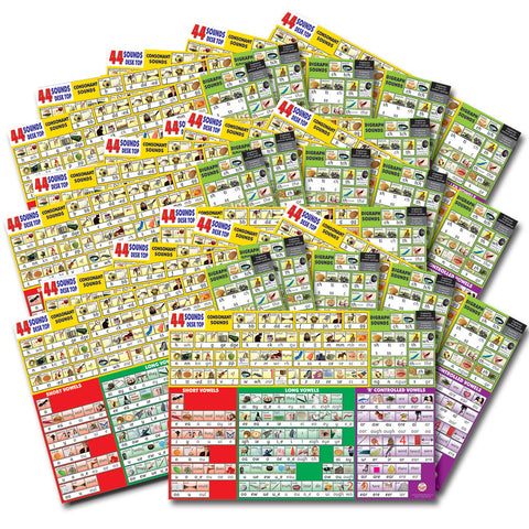 44 Sounds Desk Top Chart Set of 30