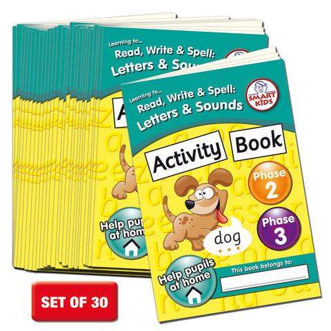 Phase 2 & 3 Activity Book Pack of 30