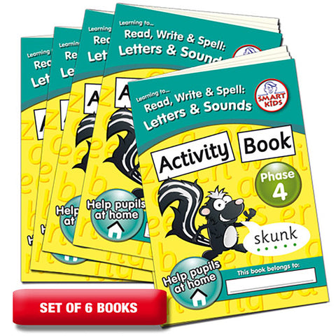 Letters and Sounds Phase 4 Activity Books Pack of 6