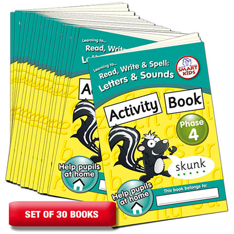 Letters and Sounds Phase 4 Activity Books Pack of 30