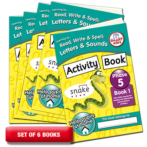 Letters and Sounds Phase 5 Activity Book 1 Pack of 6