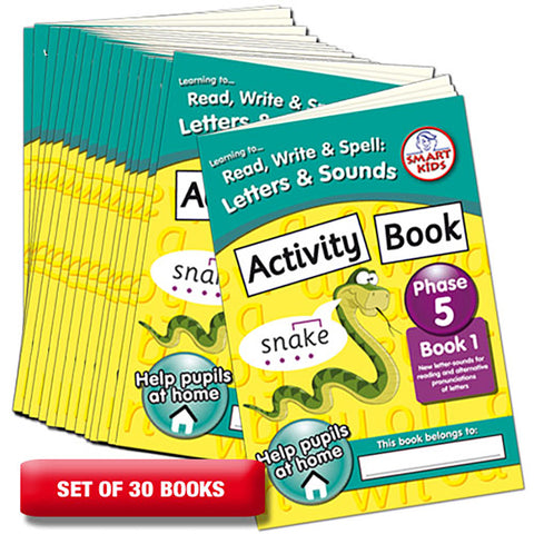 Letters and Sounds Phase 5 Activity Book 1 Pack of 30