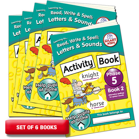 Letters and Sounds Phase 5 Activity Book 2 Pack of 6