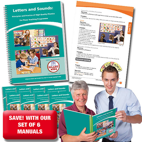 Letters and Sounds Teacher Manual - Set of 6