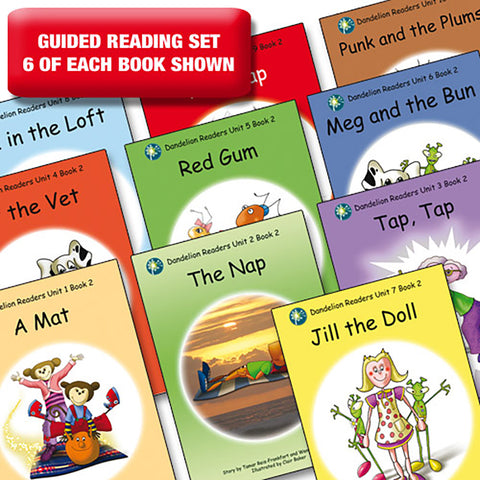 Guided reading set - Dandelion Readers units 1-10 series 2 x 6 of each book