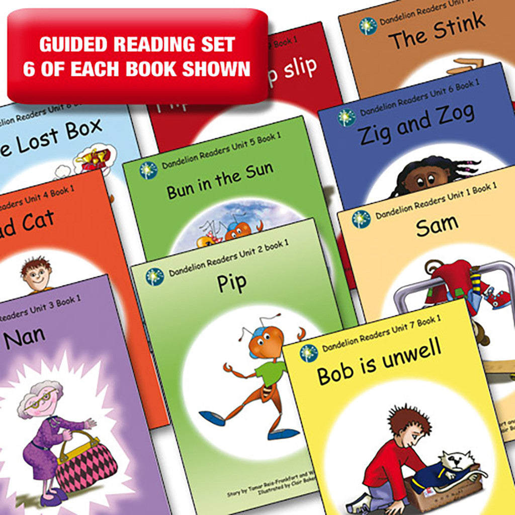 Guided reading set - Dandelion Readers units 1-10 series 1 x 6 of each book