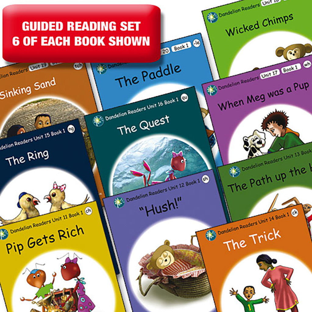 Guided reading set - Dandelion Readers units 11-20 series 1 x 6 of each book
