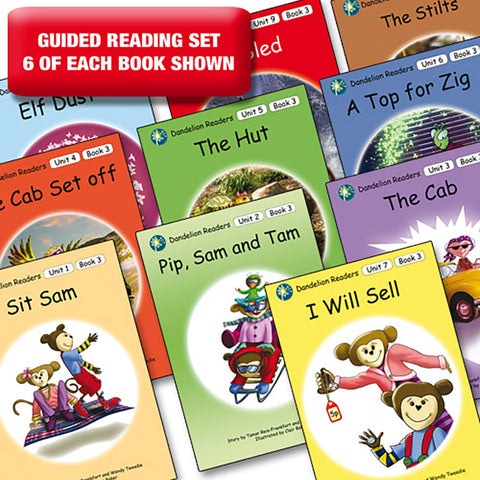 Guided reading set - Dandelion Readers units 1-10 series 3 x 6 of each book