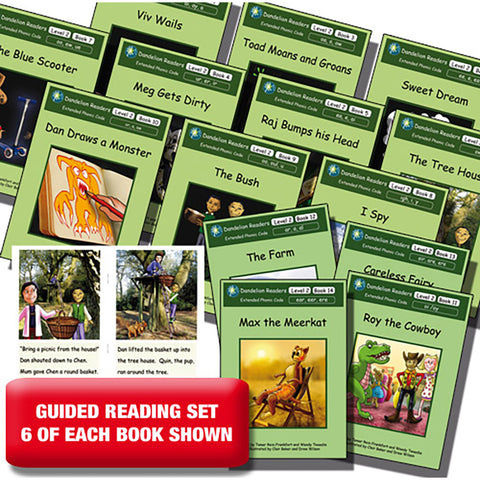Guided reading set - Dandelion Readers Extended Code Level 2 x 6 of each book