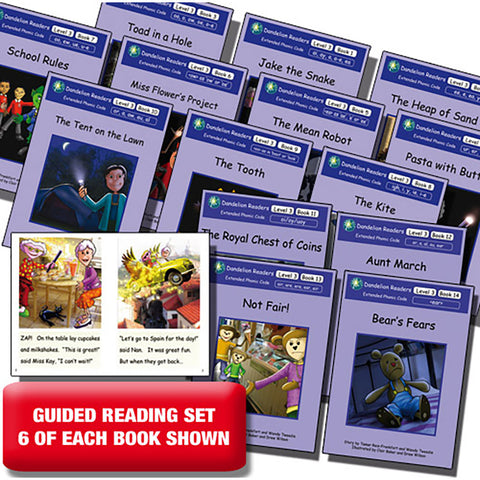 Guided reading set - Dandelion Readers Extended Code Level 3  x 6 of each book