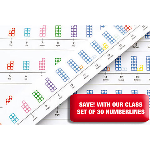 Numicon Table-top Number Lines Set of 30