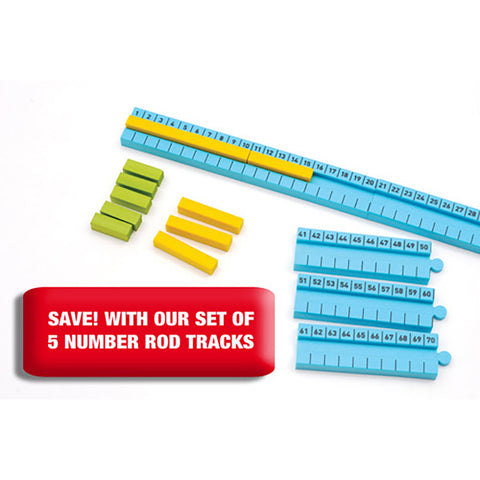 Numicon 1-100cm Number Rod Track set of 5