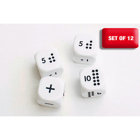 Numicon Dice Set of 12 (3 x 4pks)