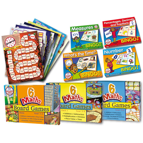 Bumper Maths Games Kit - with FREE Spinners Set