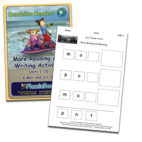 Dandelion Readers, Set 2 Units 1-10 'Sam' Reading & Writing Activities