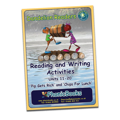 Dandelion Readers, Set 1&2 Units 11-20 Reading & Writing Activities