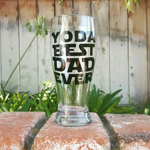 Yoda Best Dad Ever - Beer Glass